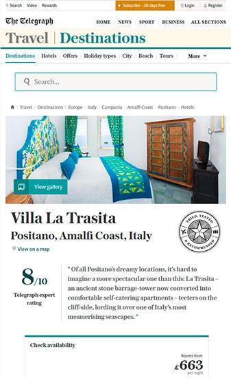 telegraph.co.uk article on Torre Trasita